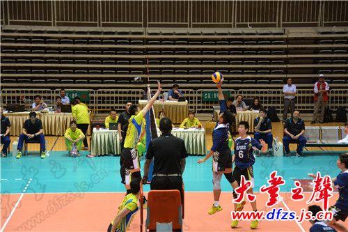 61.全国男子排球冠军赛第二站(大丰海露赛区)比赛在大丰市奥体