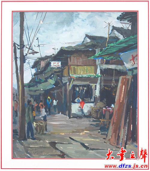 水粉写生:浙江乡村